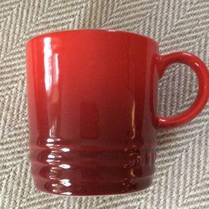 Le creuset espresso cup cerise red